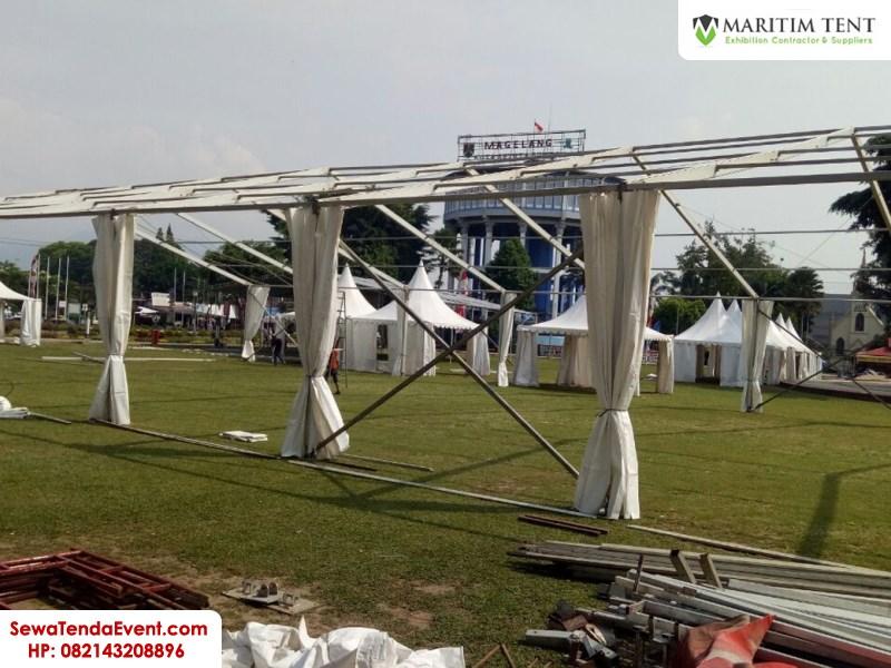 pemasangan tenda roder dan sarnafil event Magelang Fair (5)