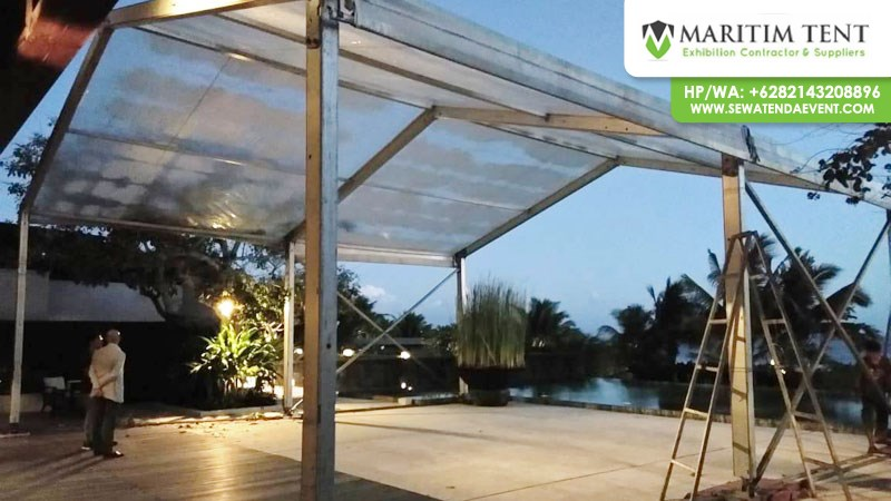 Pemasangan Tenda Roder Transparan Event di Bali
