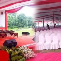 Tenda Regging Event Menteri Perekonomian di Blitar