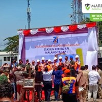 Sewa Tenda Roder Ground Braking PT KAI di Malang