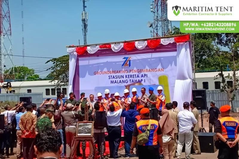 Sewa Tenda Roder Ground Braking PT KAI di Malang