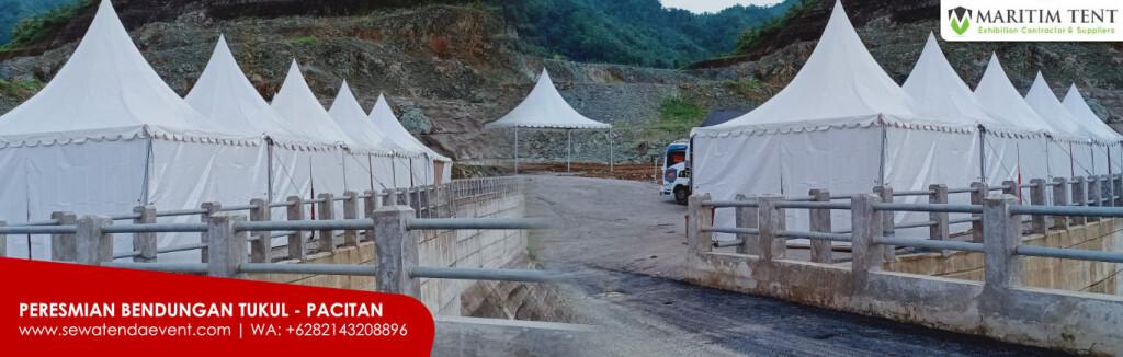 Tenda Event Bendungan Tukul di Pacitan Jawa Timur
